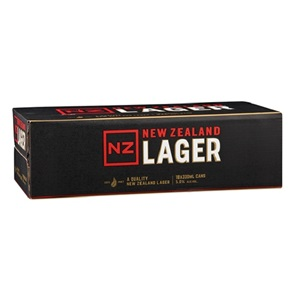 Picture of NZ Lager 18pk 5% 330ml cans