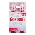 Picture of Gordons Pink Gin n Soda 4pk Bottles 330ml