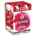 Picture of Cruiser 7% Raspberry 4pk Big Cans 300ml