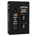 Picture of Jameson Black Barrel 700ml + 2 Glasses Giftpk