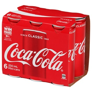 Picture of Coke 6pack 250ml
